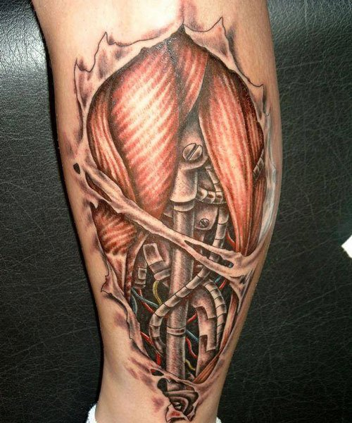 Badass Calf 3D Tattoos