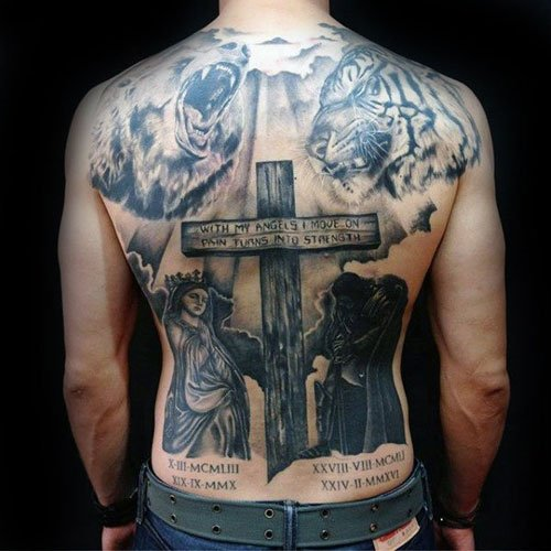 Cross Back Tattoo
