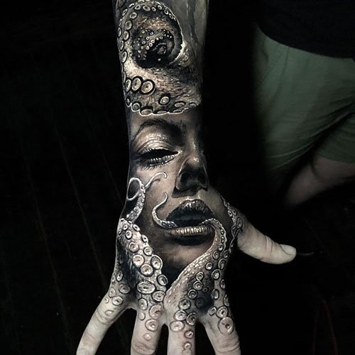Badass Hand Tattoo Designs For Guys