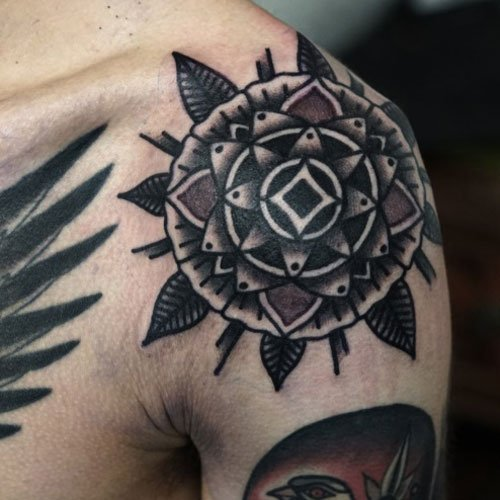 Badass Shoulder Tattoo Designs