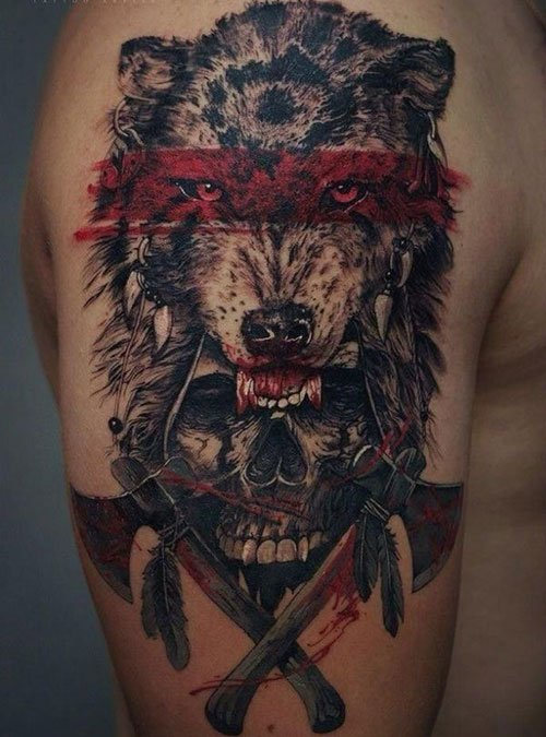 Badass Wolf Tattoo Designs