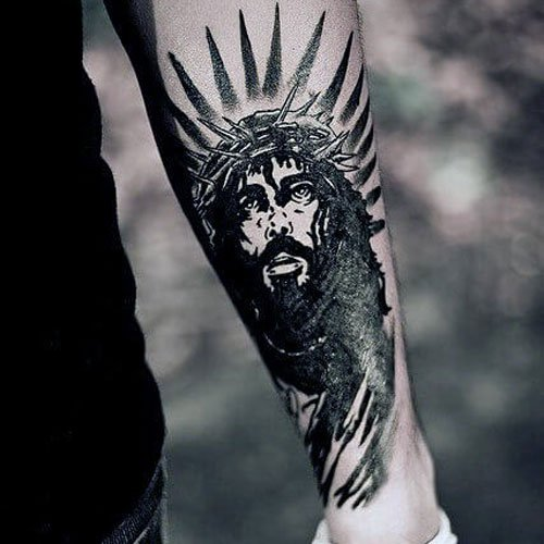 Best Forearm Tattoos For Guys - Christian Jesus