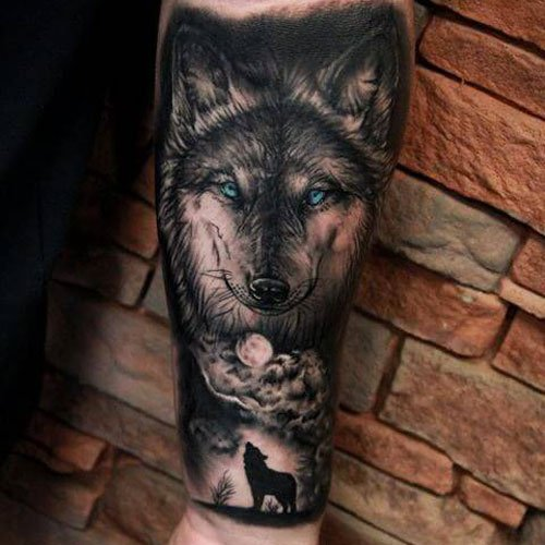 Best Wolf Arm Tattoo