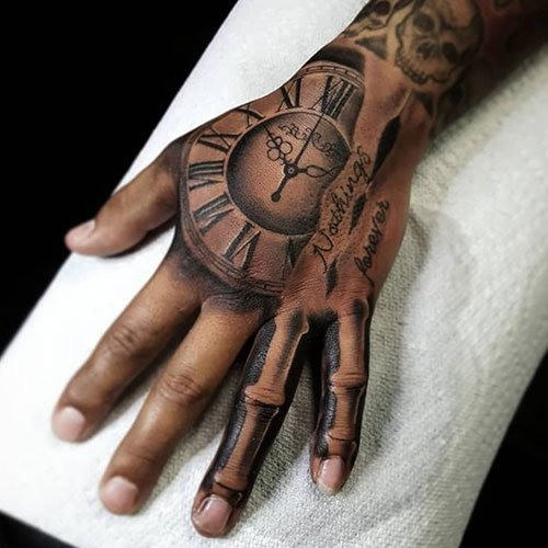 Bone Hand Tattoo