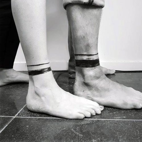 Boyfriend and Girlfriend Matching Couple Tattoos
