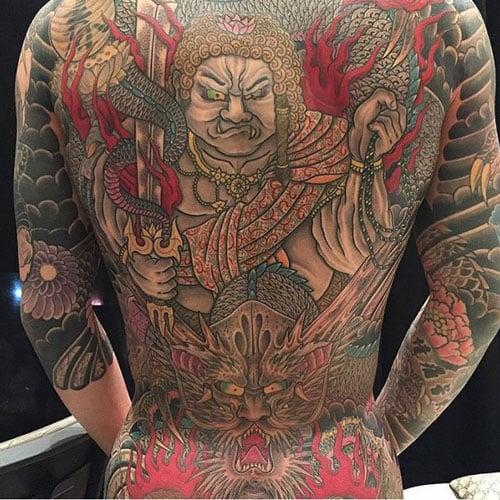 Japanese Full Back Tattoos For Men