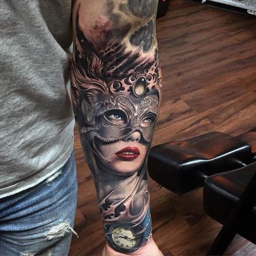 Colorful Half Sleeve Tattoo Ideas
