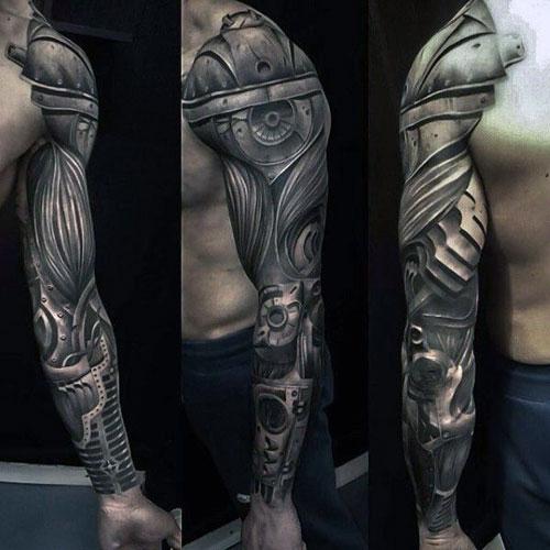 Cool 3D Full Sleeve Arm Tattoos For Men
