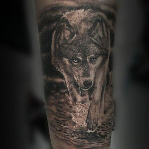 Cool Angry Wolf Tattoo