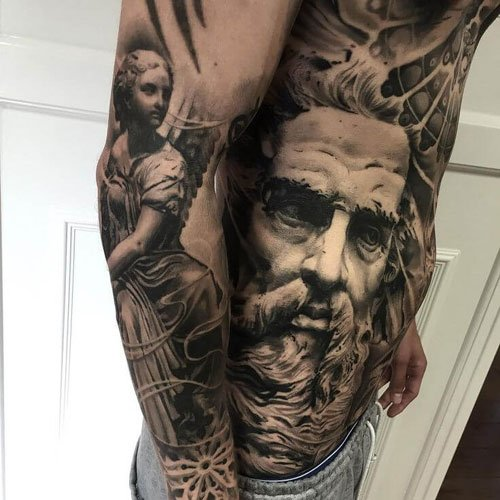 Cool Arm, Forearm, Shoulder, Chest and Stomach Tattoo Ideas For Men