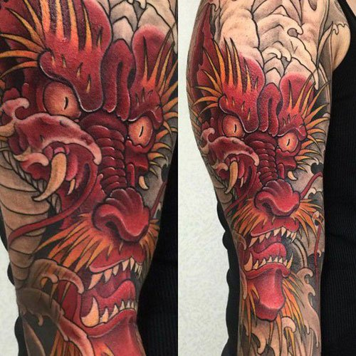 Cool Chinese Dragon Tattoo on Arm