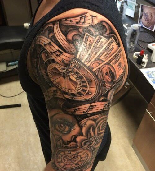 Cool Deltoid Shoulder Tattoo Ideas For Guys