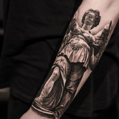 Cool Forearm Angel Tattoos