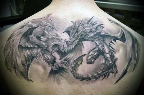 Cool Upper Back Dragon Tattoos