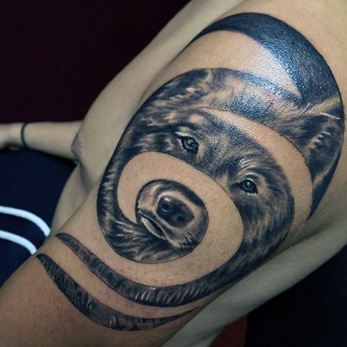 Creative Wolf Tattoo Ideas For Guys