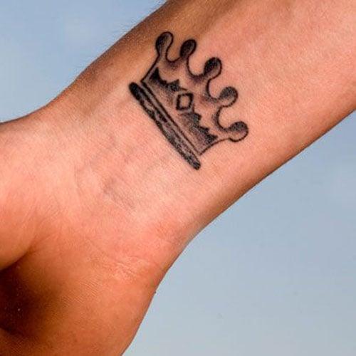 Crown King Wrist Tattoos