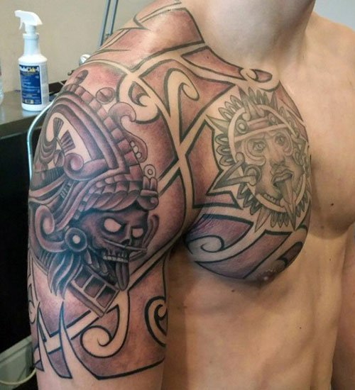 Deltoid Trap Shoulder Tattoos