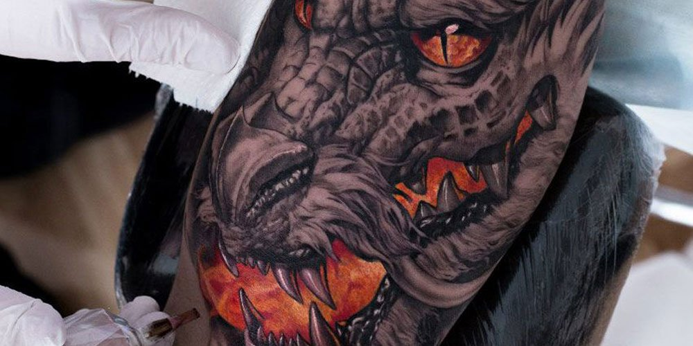 61 Best Dragon Tattoos For Men Cool Design Ideas 2021 Guide In china, imagery 0f dragons are used to incite fear in enemies. 61 best dragon tattoos for men cool
