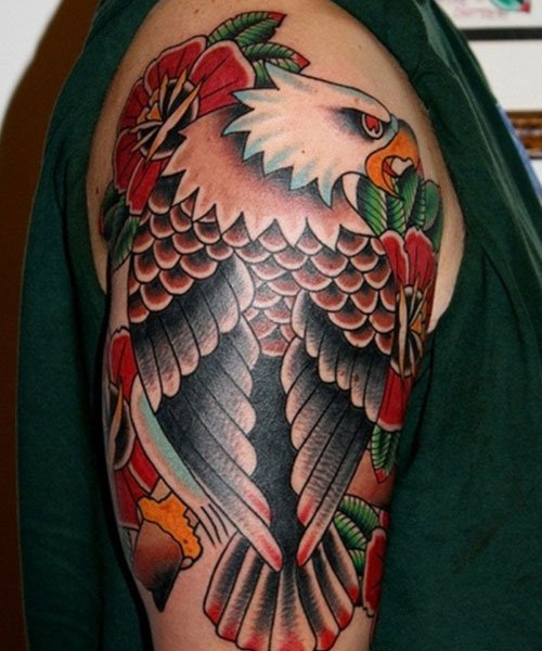 Eagle Shoulder Tattoo Ideas For Guys