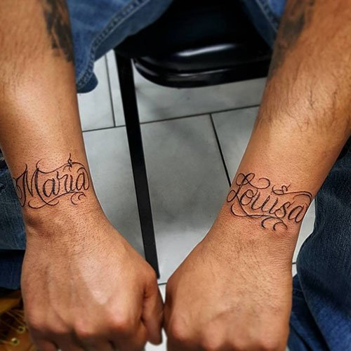 Wrist Name Tattoos
