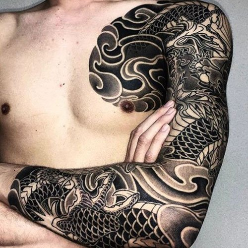 Full Sleeve Shoulder Tattoos For Men
