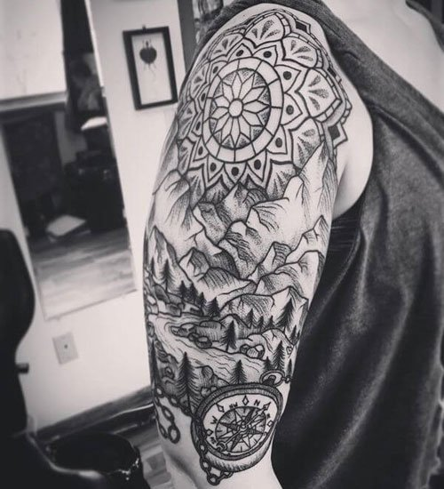 Half Sleeve Shoulder Tattoo Designs