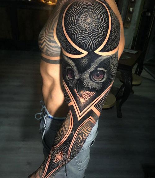 Hot Tribal Sleeve Tattoos