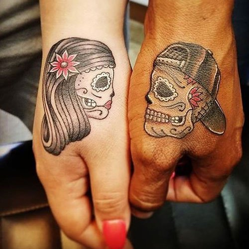 Husband and Wife Matching Couple Tattoos