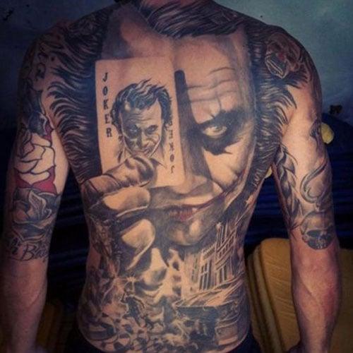 Joker Back Tattoos For Guys