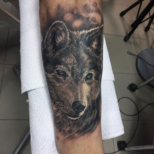 Lower Arm Wolf Tattoo