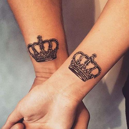 Matching Crown Tattoos
