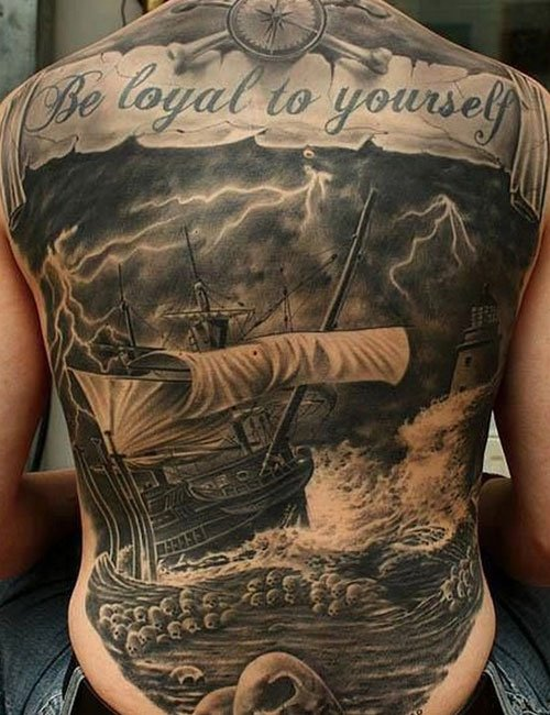 Meaningful Quote Back Tattoos For Guys