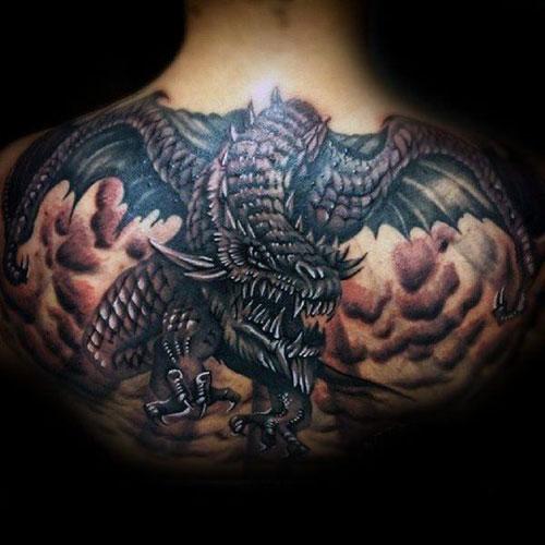 Medieval Dragon Tattoo Designs on Back