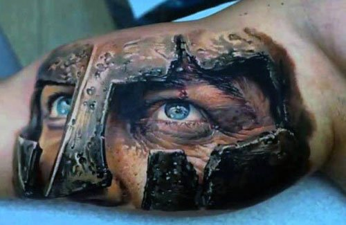 Realistic 3D Tattoos on Arm