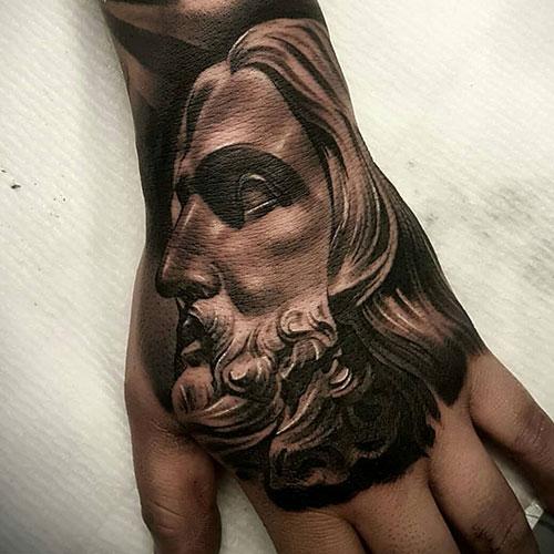 Religious Christian Hand Tattoos