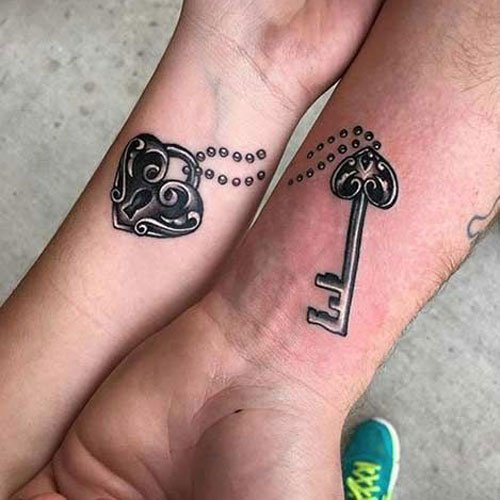 Small Matching Couple Tattoo Ideas