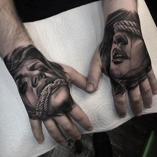 Stylish Tattoos on Hand