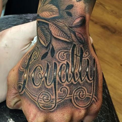 Top of Hand Tattoo