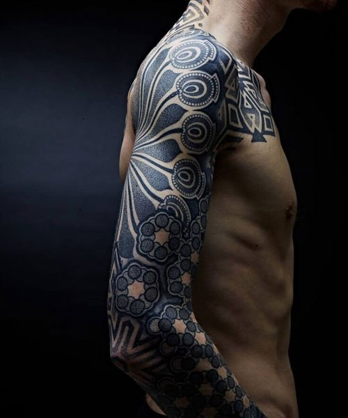 Traditional Tribal Sleeve Tattoos For Men