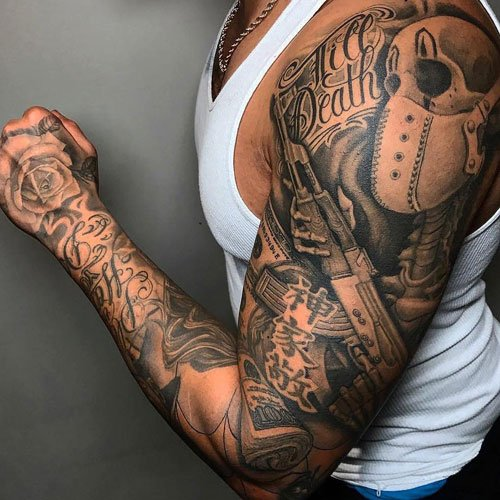 Unique Full Sleeve Shoulder Tattoos For Guys