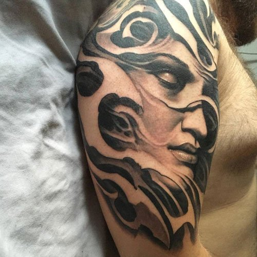 Upper Shoulder Tattoo Designs