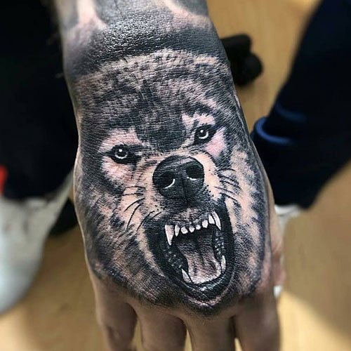 Wolf Hand Tattoo Ideas