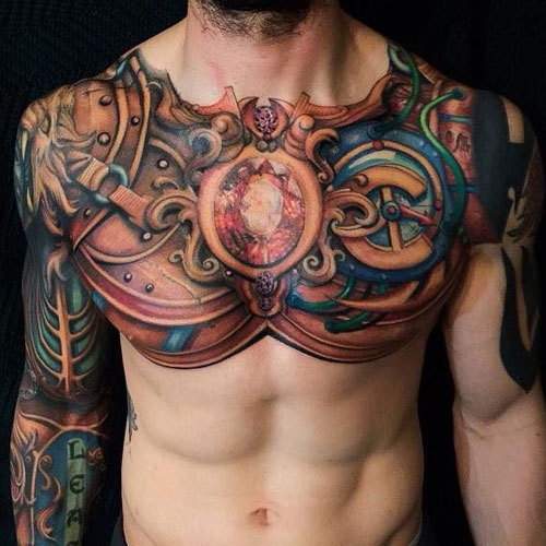 Badass Chest Tattoo Designs