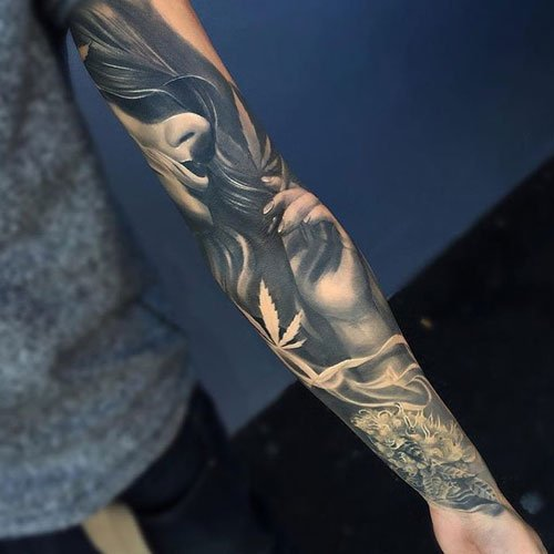 Badass Full Arm Tattoo Designs For Men