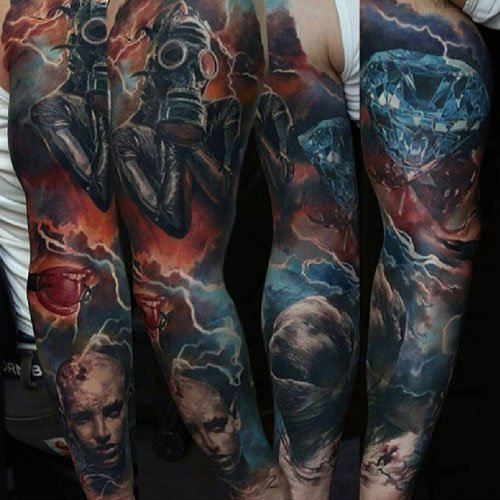 Badass Full Sleeve Tattoos