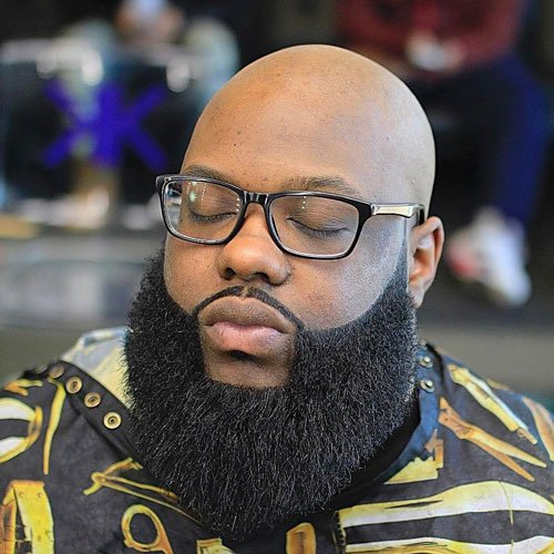 Bald Black Men With Beards