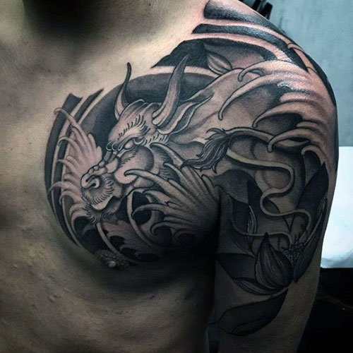 Cool Badass Half Sleeve Chest Tattoo Designs