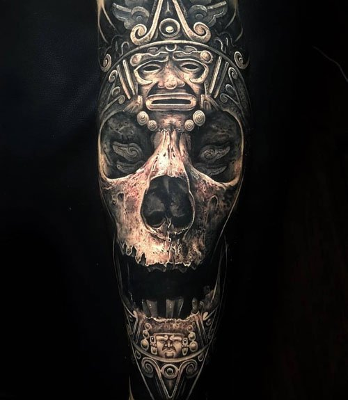 Cool Full Arm Skull Tattoos For Guys