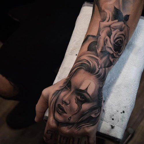 Cool Hand and Arm Tattoo Designs For Guys