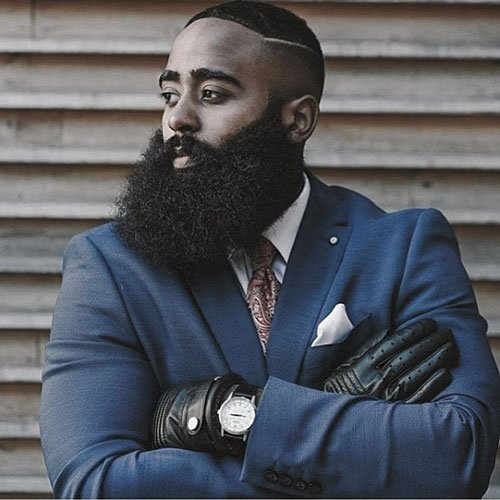 Full Beard Styles For Black Men